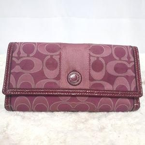 Coach Pink Clutch Wallet